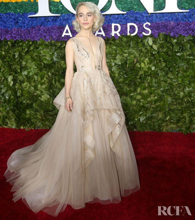 Sophia Anne Caruso in Pamella Roland - 2019 Tony Awards