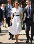 Catherine, Duchess Of Cambridge Aces Wimbledon Whites At The Tennis Championships