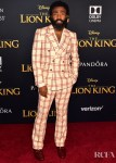 Donald Glover Rocks A Summery Check Suit For 'The Lion King' World Premiere