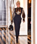 Lady Gaga's Metallic In New York City Moment