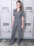 Natalia Dyer Switches Gears For Build Series With A Prince Of Wales Jumpsuit