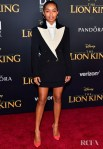 Yara Shahidi Rocks A Power Skirt Suit For 'The Lion King' World Premiere