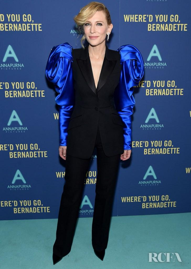 Cate Blanchett Dons The New Power Suit For 'Where'd You Go, Bernadette' New York Screening