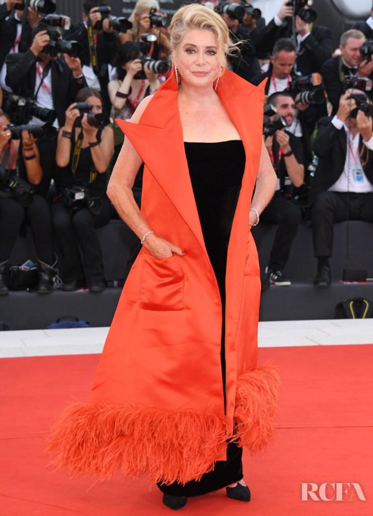 Catherine Deneuve In Jean Paul Gaultier Haute Couture  - 'La Vérité' Venice Film Festival Premiere