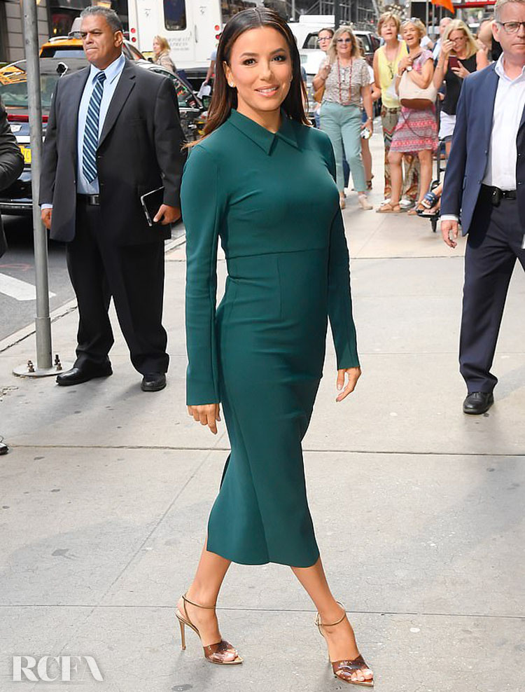 Eva Longoria In Greta Constantine - Good Morning America
