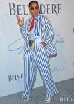 Janelle Monae Stands Out In Stripes For The Campaign Launch Of  'A Beautiful Future'