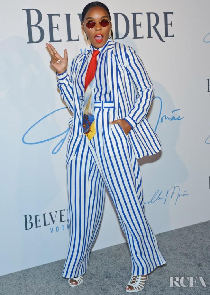 Janelle Monáe In Ralph Lauren -  'A Beautiful Future' Campaign Launch