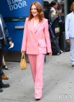 Julianne Moore Was Flamingo Pink For Good Morning America