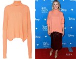 Kristen Bell's Sally LaPointe Cashmere-Blend Ribbed Oversized Turtleneck
