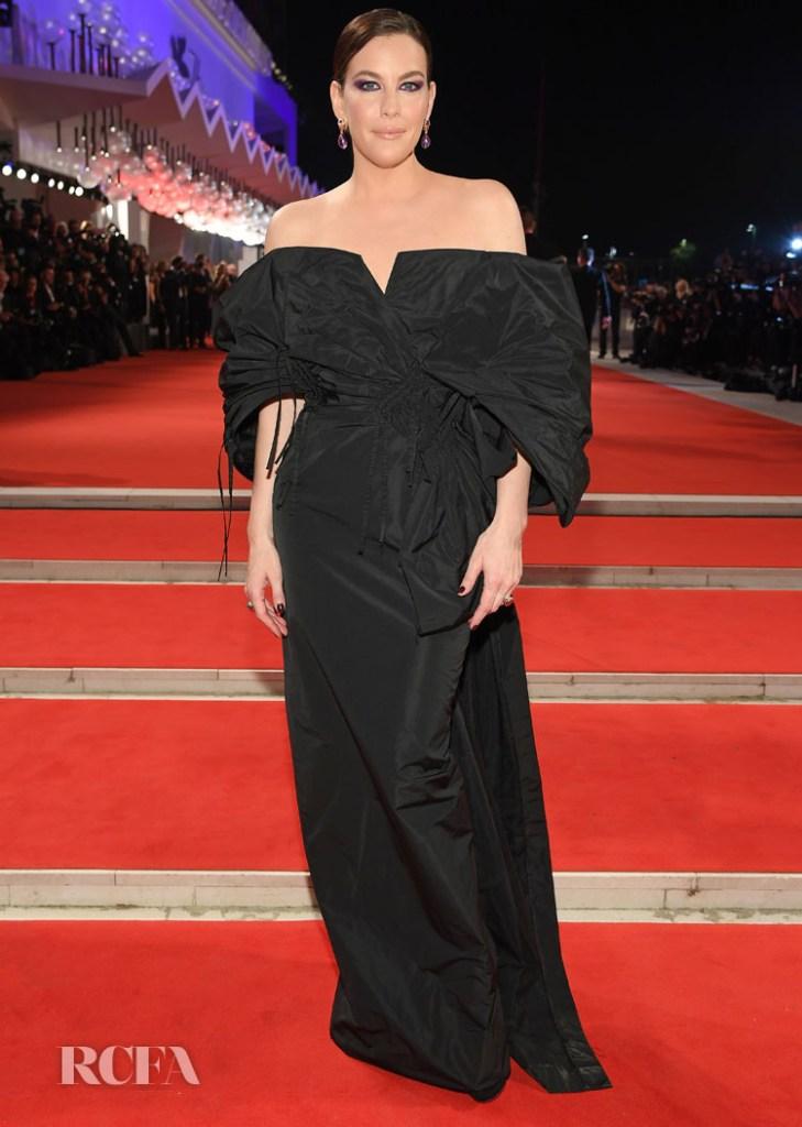 Liv Tyler In Givenchy Haute Couture - 'Ad Astra' Venice Film Festival Premiere