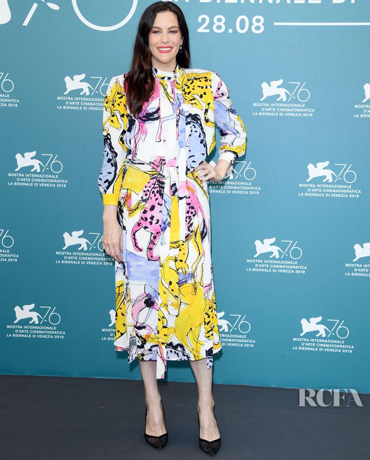 Liv Tyler In Stella McCartney - 'Ad Astra' Venice Film Festival Photocall
