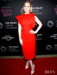 Rachel Brosnahan's Sizzling Red Sheath For 'The Marvelous Mrs. Maisel' Paley Center for Media Event