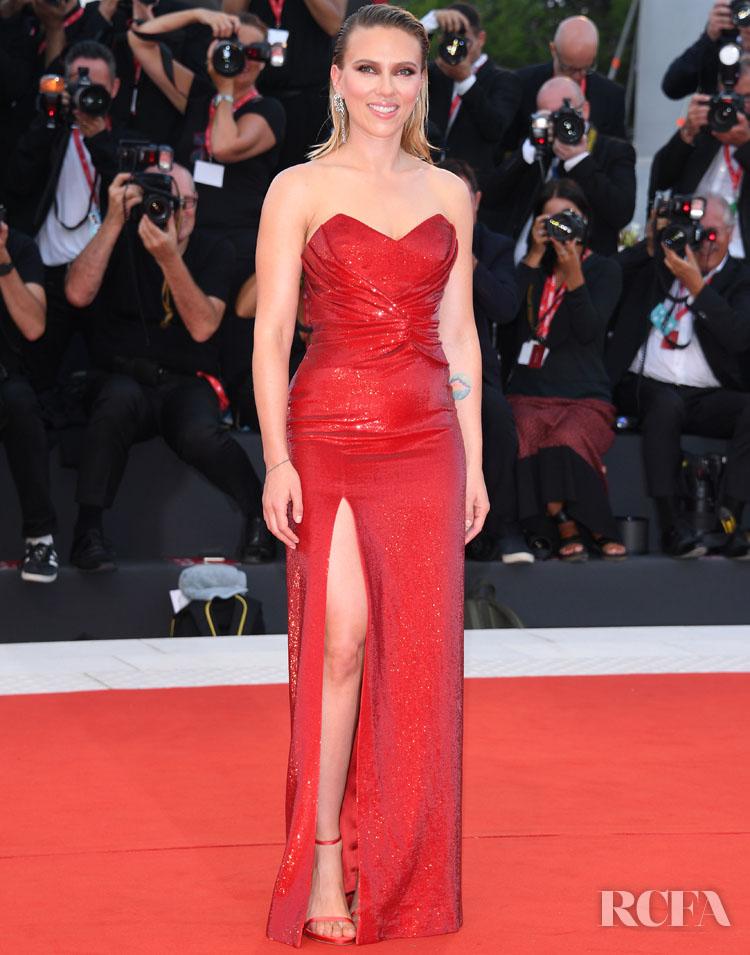 Scarlett Johansson In Celine - 'Marriage Story' Venice Film Festival Premiere