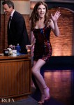 Anna Kendrick's Halpern Sequin Mini For Late Night With Seth Meyers