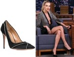 Cara Delevingne's Aquazzura Satine Crystal Black Pumps