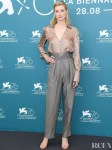 Elizabeth Debicki In Fendi & Schiaparelli Haute Couture  - 'The Burnt Orange Heresy' Venice Film Festival Photocall & Premiere