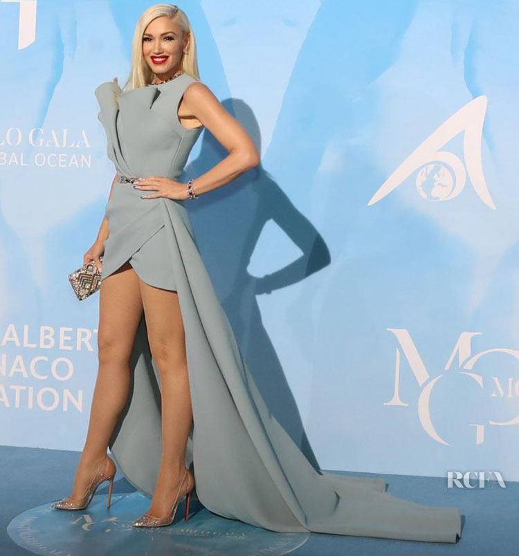 Gwen Stefani In Elie Saab Haute Couture - Monte-Carlo Gala for the Global Ocean 2019