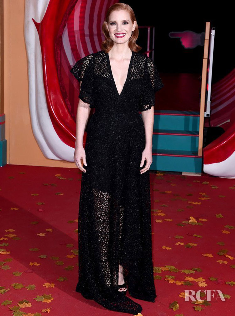 Jessica Chastain Was Mesmerizing In All Black For The 'IT Chapter Two' London Premiere