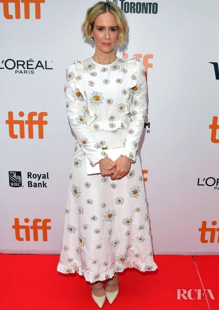 Sarah Paulson In Miu Miu, 'Abominable' Toronto Film Festival Premieres