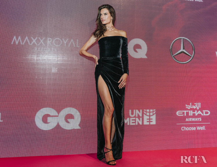 Alessandra Ambrosio Picks Up The Fashion Icon Award Winner At The GQ Middle East Men of the Year Awards