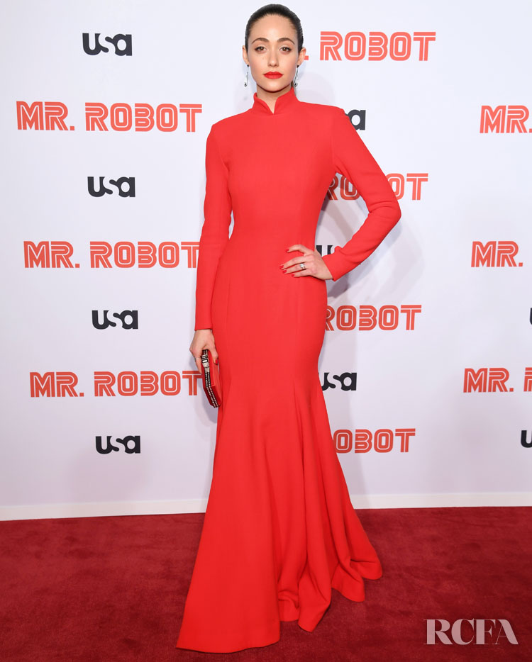 Emmy Rossum Reminds Us Why We Love Her Style At The 'Mr. Robot' Season 4 Premiere