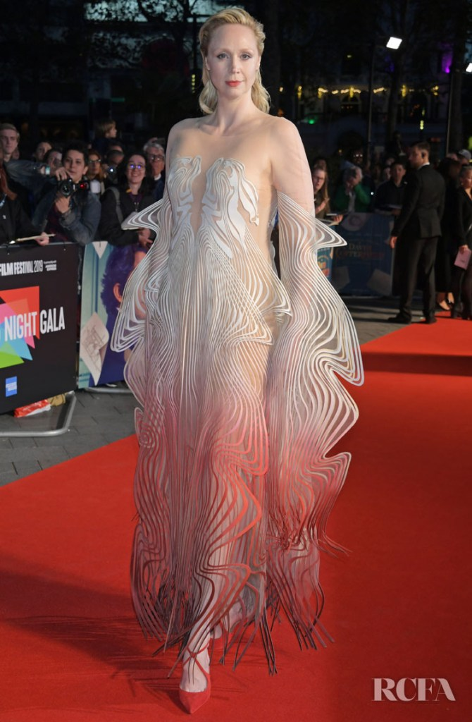 Gwendoline Christie Opens The London Film Festival 'The Personal History Of David Copperfield' Premiere In Another Epic Iris van Herpen Haute Couture Look