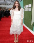 Keira Knightley Whimsical Return To The Red Carpet For The 'Official Secrets' London Film Festival Premiere