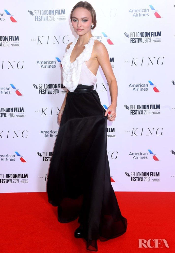 Lily Rose Depp In Chanel - 'The King' London Film Festival Premiere