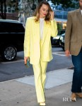 Margot Robbie's Mellow Yellow Attico Suit For Comic-Con