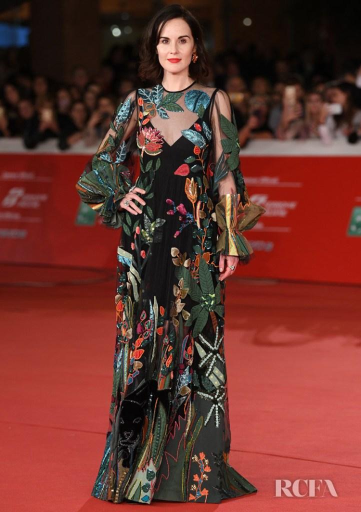 Michelle Dockery In Valentino 'Downton Abbey' During Rome Film Festival Premiere