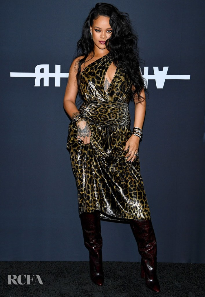 Rihanna Sizzles In Leopard Print For Her Visual Autobiography Launch