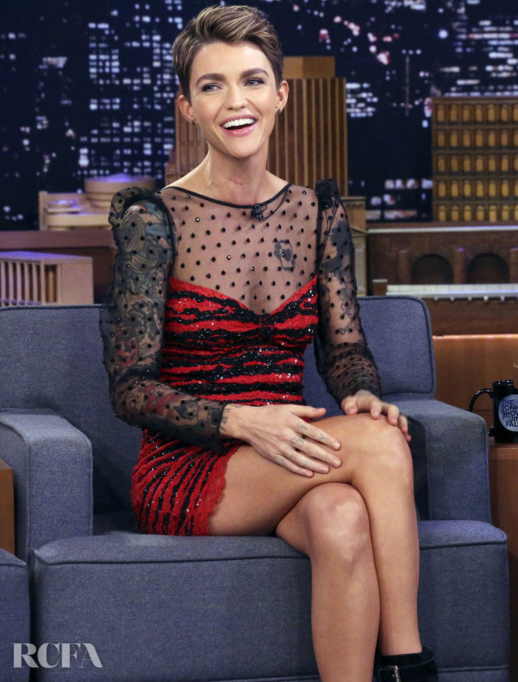 Ruby Rose, Daring In Dundas On The Tonight Show Starring Jimmy Fallon
