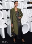 Zoe Saldana Celebrates Nordstrom NYC Flagship Opening Party In Army Green