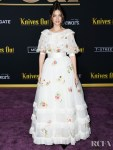 Ana De Armas' Floral Chanel Haute Couture For The 'Knives Out' LA Premiere