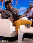Chadwick Boseman Continues His Love Affair With Etro On The Ellen DeGeneres Show