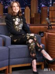 Evan Rachel Wood Was Back To Suiting On The Tonight Show Starring Jimmy Fallon