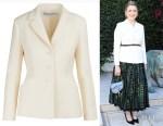 Greta Gerwig's Dior Wool and Silk Bar Jacket