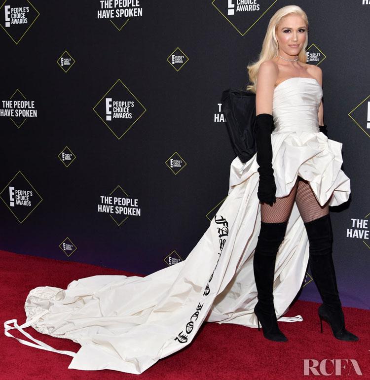 Gwen Stefani In Vera Wang Bridal - 2019 People's Choice Awards