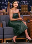 Naomi Scott Was Glowing In Green Givenchy On The Tonight Show Starring Jimmy  Fallon