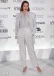 Nieves Alvarez's Hawt Holographic Suit For The 2019 Woman Madame Figaro Awards