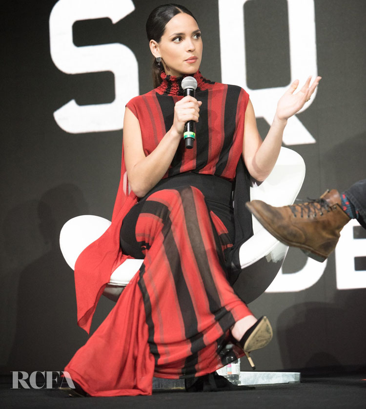 Adria Arjona Wore JW Anderson For The Comic-Con For The '6 Underground' Panel