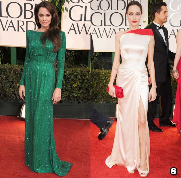 Angelina Jolie in Atelier Versace – 2011 & 2012 Golden Globes