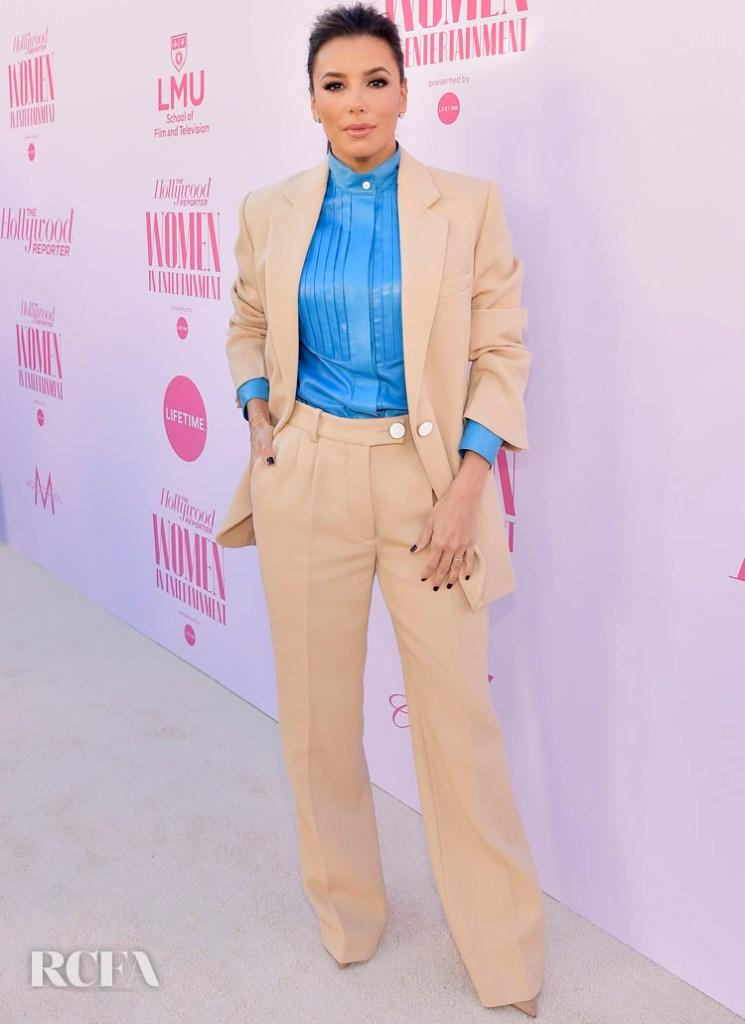 Eva Longoria Wore Victoria Beckham To The Hollywood Reporter's Annual Women in Entertainment Breakfast Gala