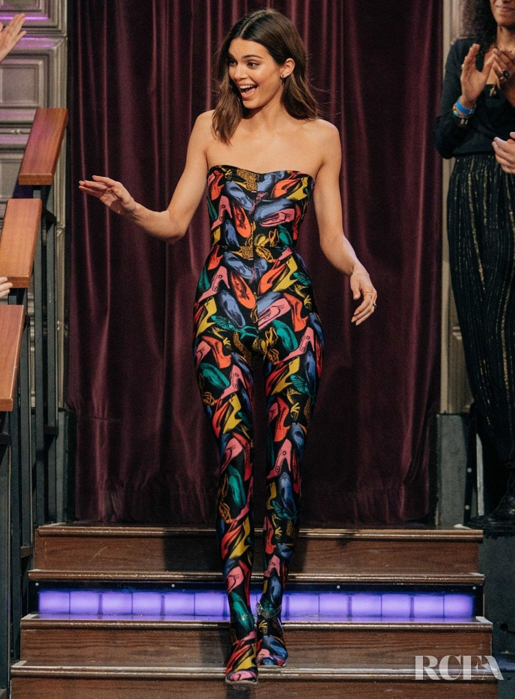 Kendall Jenner Wore Vintage Salvatore Ferragamo On The Late Late Show With James Corden