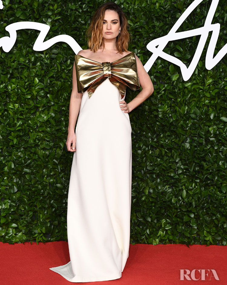 Lily James In Valentino Haute Couture - The Fashion Awards 2019