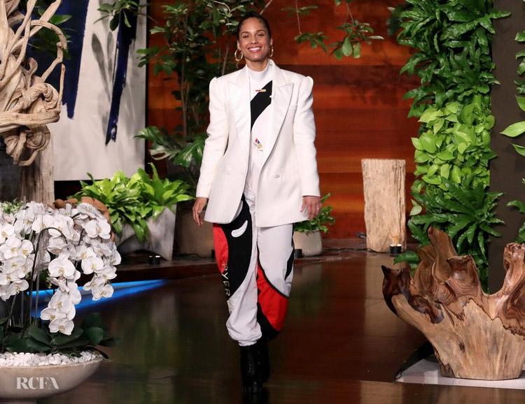 Alicia Keys Wore Pyer Moss & Philosophy Di Lorenzo Serafini On The Ellen Show