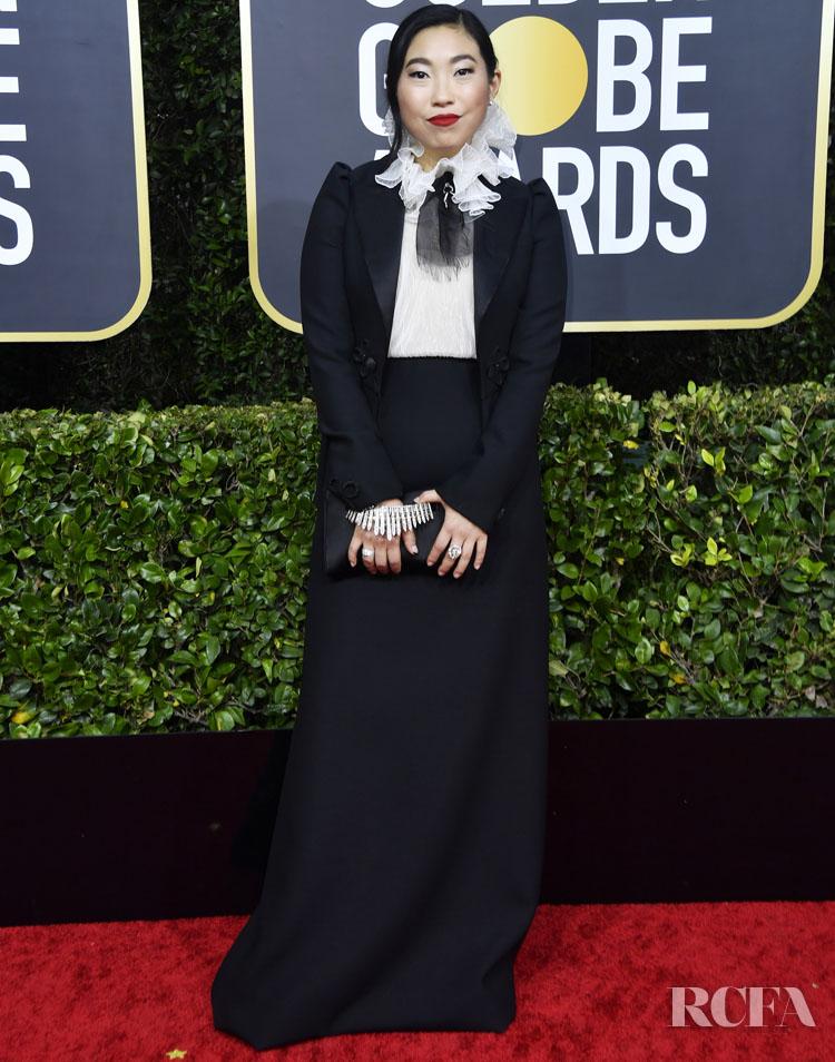 Awkwafina In Christian Dior Haute Couture - 2020 Golden Globe Awards
