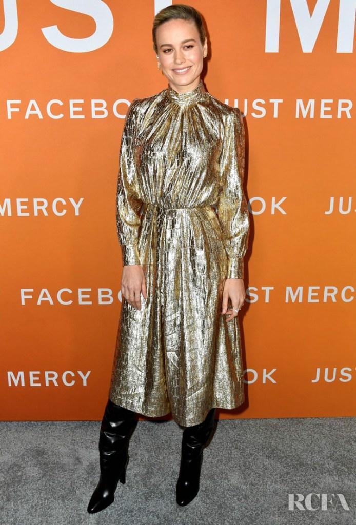 Brie Larson Wore Celine To The 'Just Mercy' LA Premiere