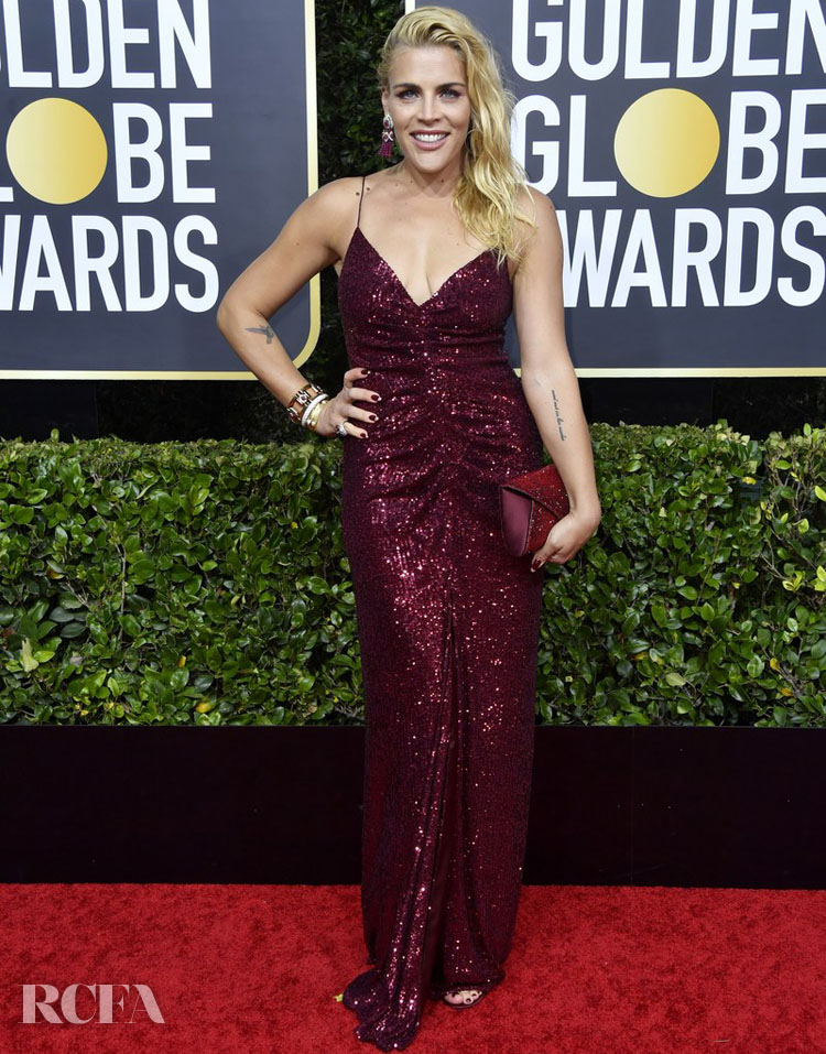 Busy Phillips in Monique Lhuillier 2020 Golden Globe Awards