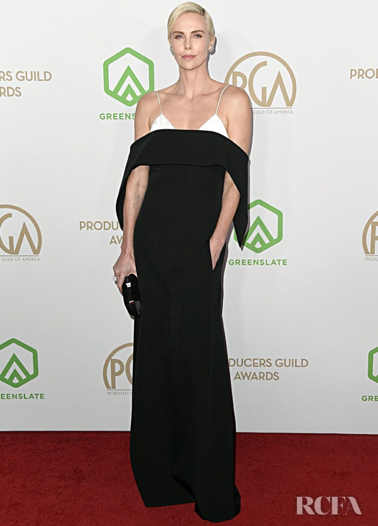 Charlize Theron Wore Givenchy Haute Couture To The 2020 Producers Guild Awards